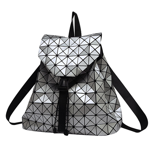 Women 2016 BaoBao female Fashion Girl Daily Geometry Package Sequins Folding Bags,Drawstring Backpack
