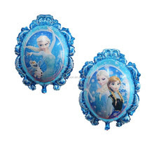 Wholesale party decoration cartoon mirror shape Frozen foil balloons