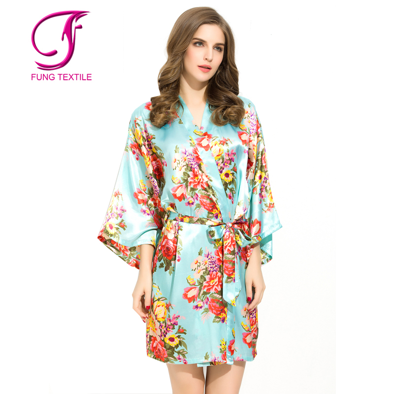 8dba74f85f5 Fung 3002 Wedding Bridesmaid Gift Bride Satin Rhinestone Robe - Buy ...