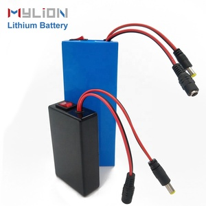 Mylion OEM 5200mah 12v 18650 lithium ion battery pack backup power bank made in china for solar led lighting