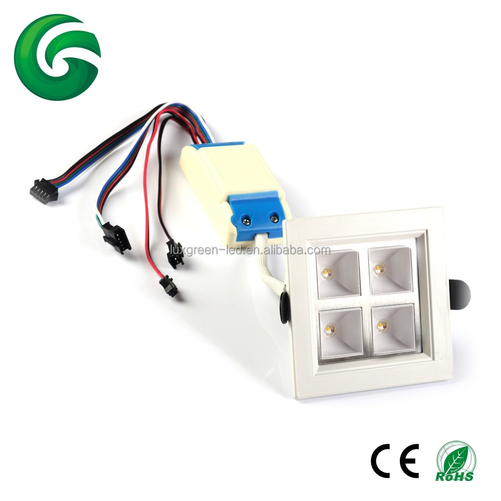 CE RoHS 4x8w RGBW LED <strong>downlight</strong> 32W with 3 years warranty