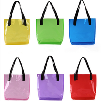 2015 new arrival trendy plastic pink clear pvc beach bag wholesale (SD-BB-041)