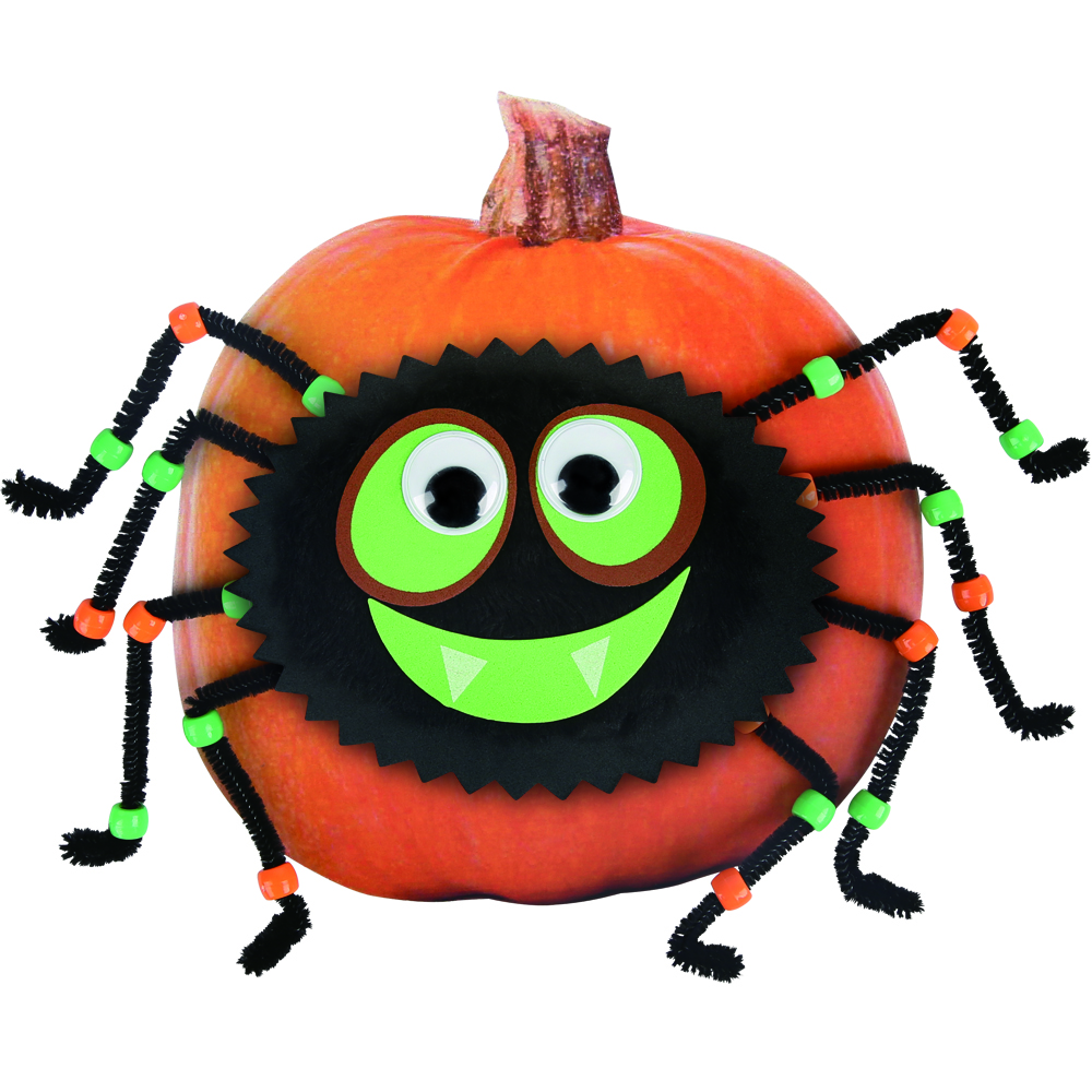 Halloween Ornamento Decorazione di Zucca con 3D Spider Sticker