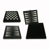 Creative Storage Leather Box with Chess and Backgammon Board