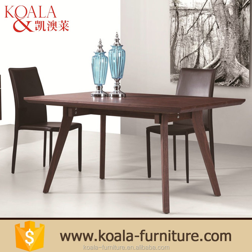 Pictures of base solid wood in red oak veneered philippine dining table set