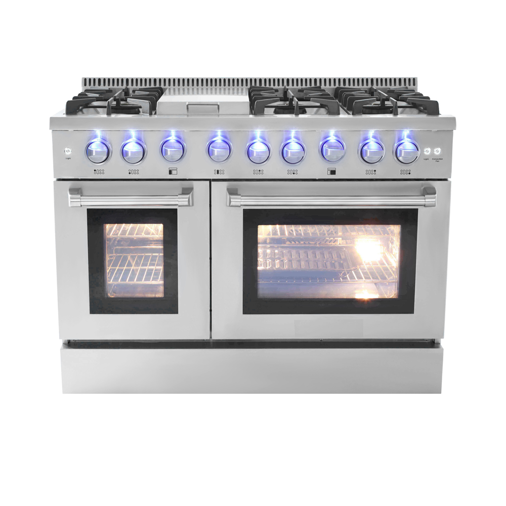 "professional cooking Double oven 48""Gas Range CSA Approved freestanding 6 burner + Grill on Top"