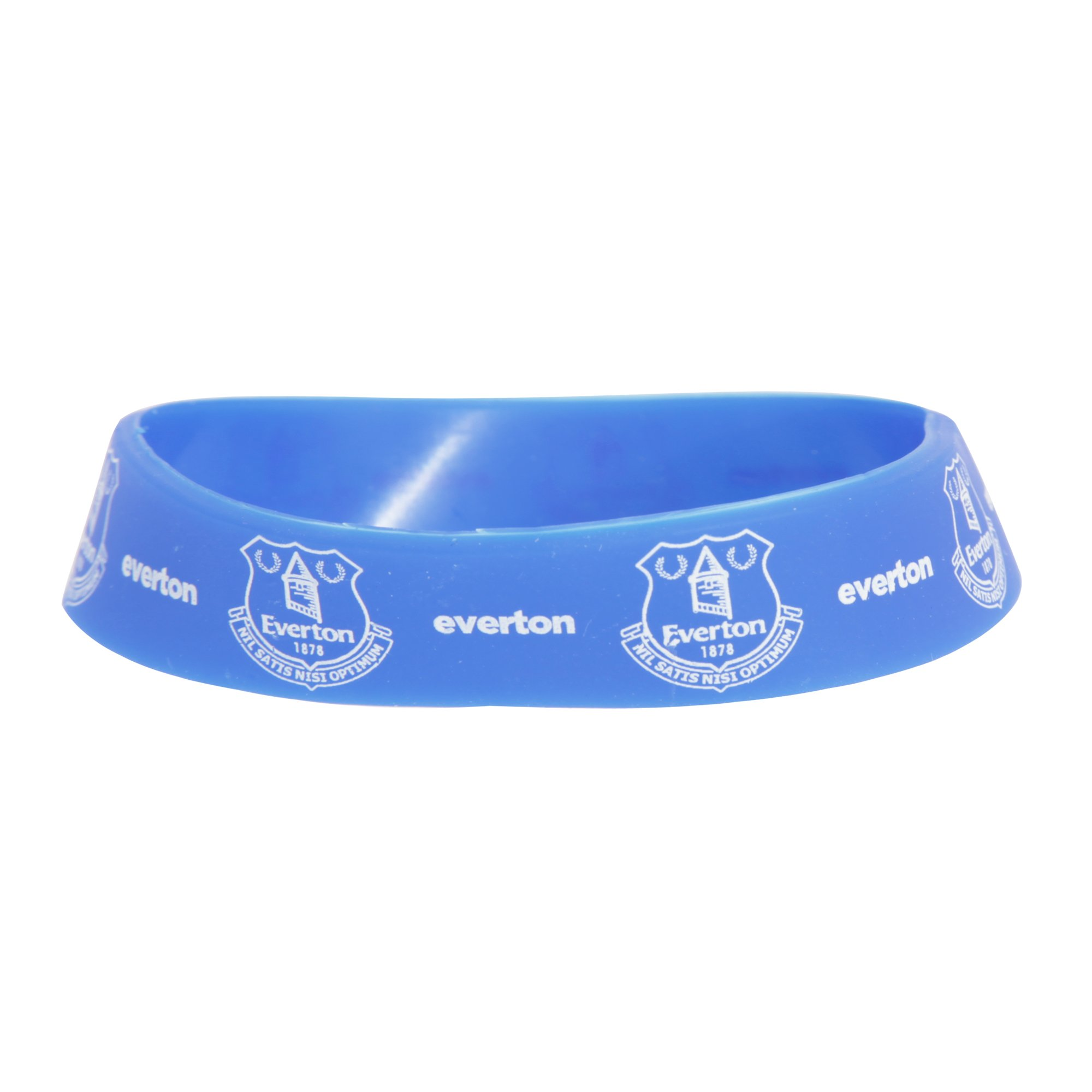 Everton FC Official Single Rubber Football Crest Wristband