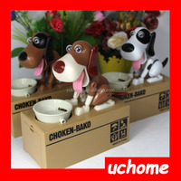 UCHOME 2016 New hot Puppy Hungry Eating Dog Coin Bank