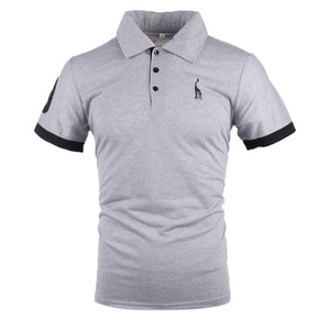 Mens Fashion Personality Embroidery Short Sleeve POLO Shirt