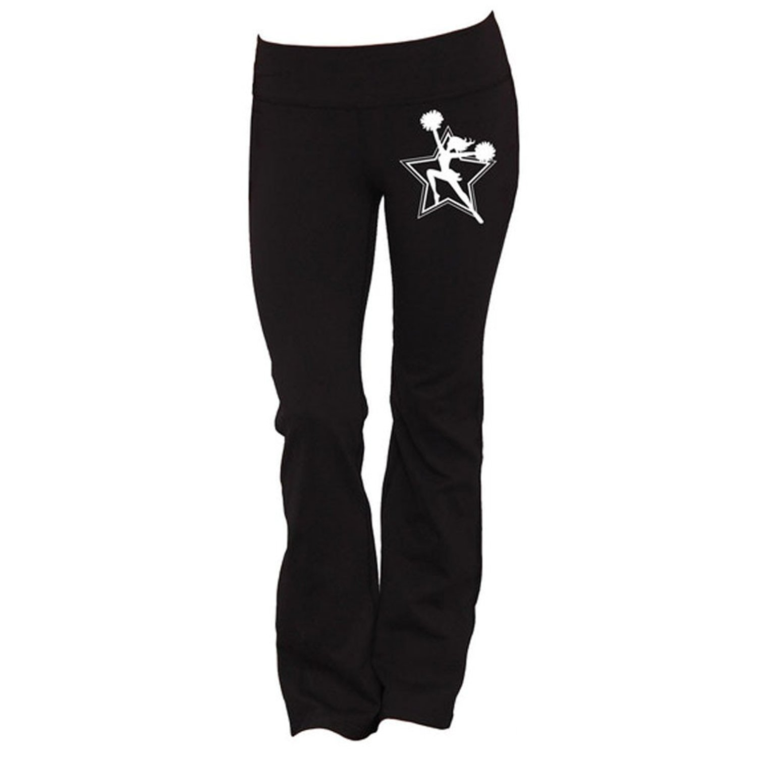 f45d13ae9a Women s Cheerleader Yoga Pants Workout Gym Casual Sporty Outfits Wear