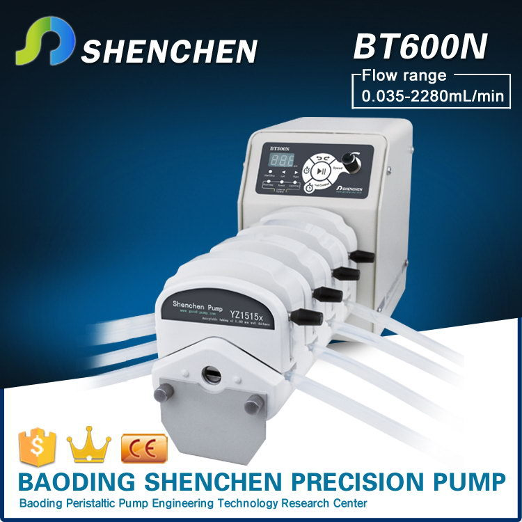 Hand operated digital pump for chapstick,variable speed metering pumps for beauty,flow rate roller pump for viscous liquid