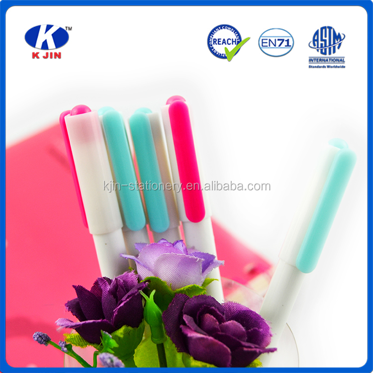 Customized Logo Print Milky cover Cheapest Promotional Plastic Ball Pen