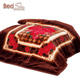 Heavy weight hotel Middle east korean style 2 ply embossed raschel blanket for adult