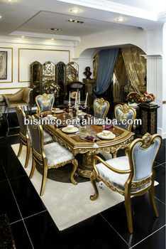 Royal Elegant Classical Dining Room Furniture Set Dining Tables