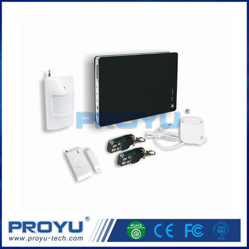 Gsm alarm system wireless with temperature and