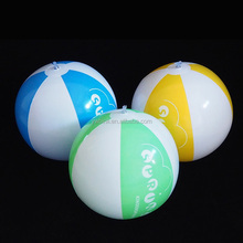 EN71 standard PVC inflatable beach ball color assorted blow up beach balls with logo