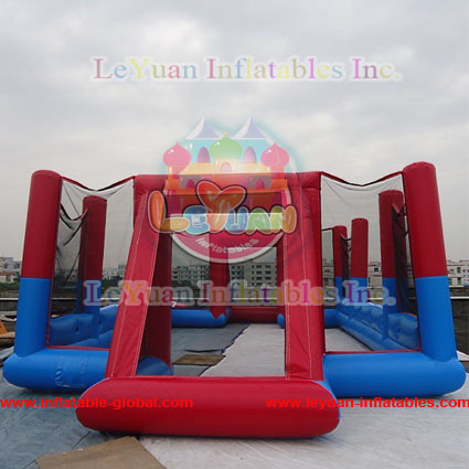 Hot sale inflatable foosball playing game field, inflatable football field, football arena