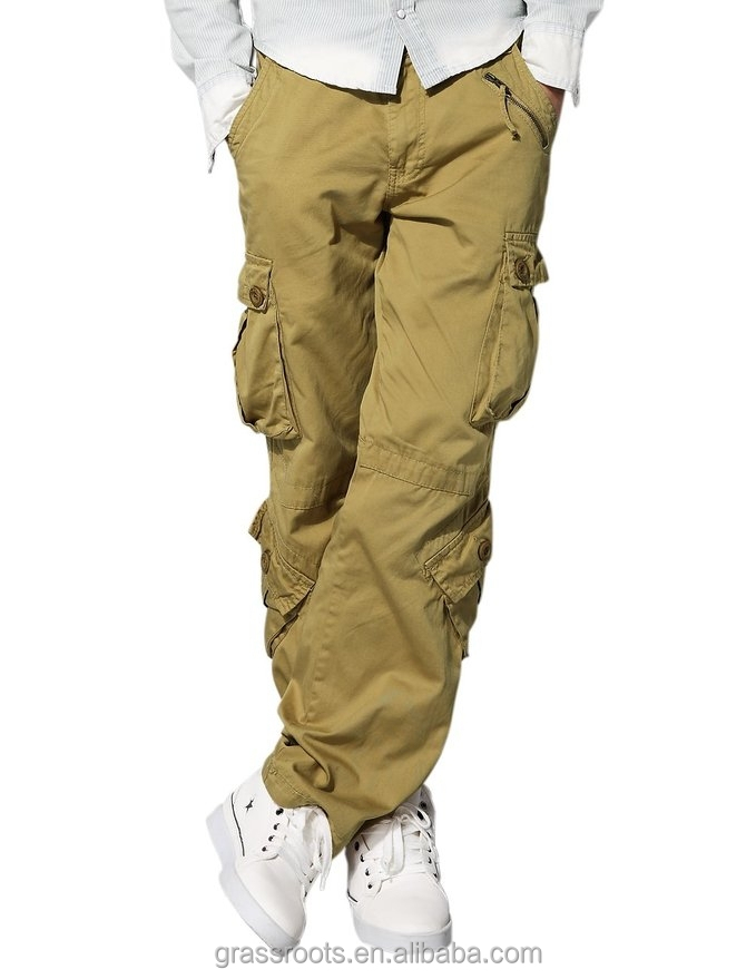 man fashion cotton cargo tactical pants with belt