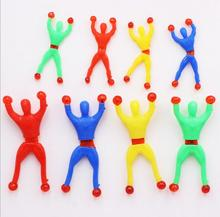 Hot Sale Children Toys Sticky Men ECO TPR Material Sticky Toys Climbing Men Wholesale 4 colors Offer