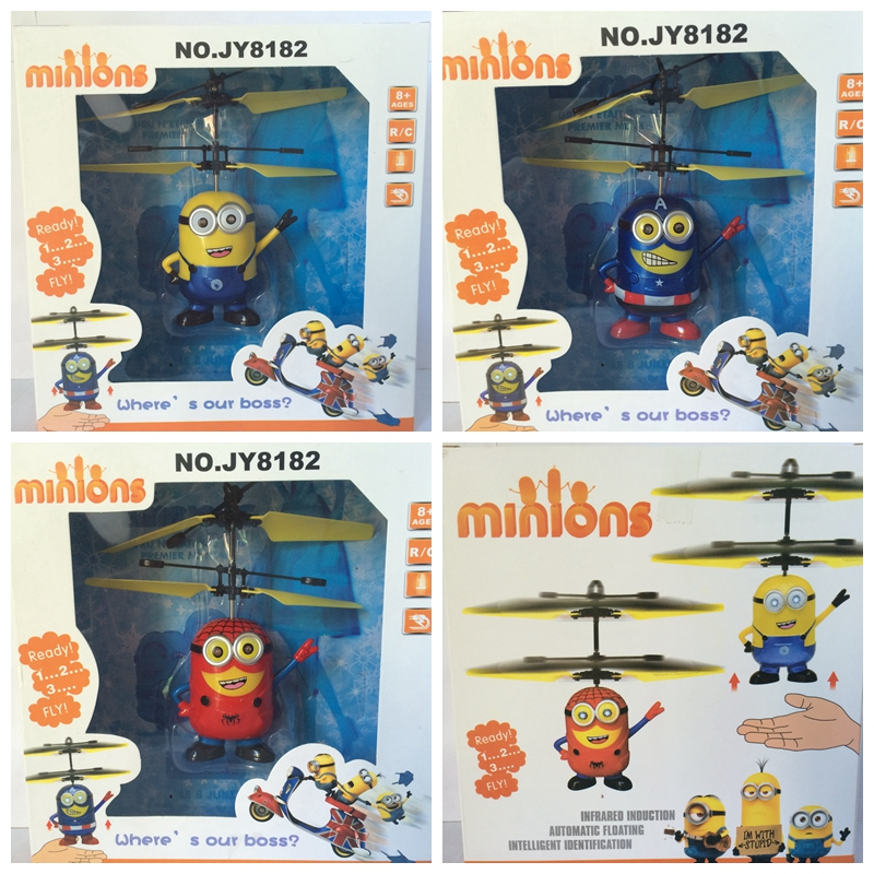 Remote Control RC Helicopter Flying Minion/Captain America/ Spiderman