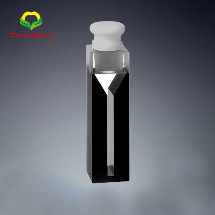Semi-micro cell with quartz black walls and telflon stopper