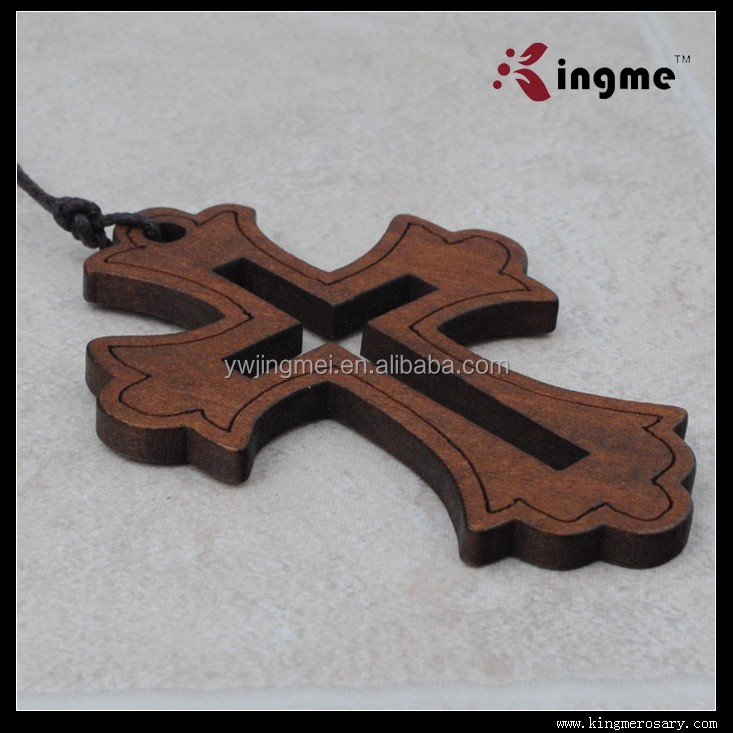 74*54mm Wooden cross Pendant