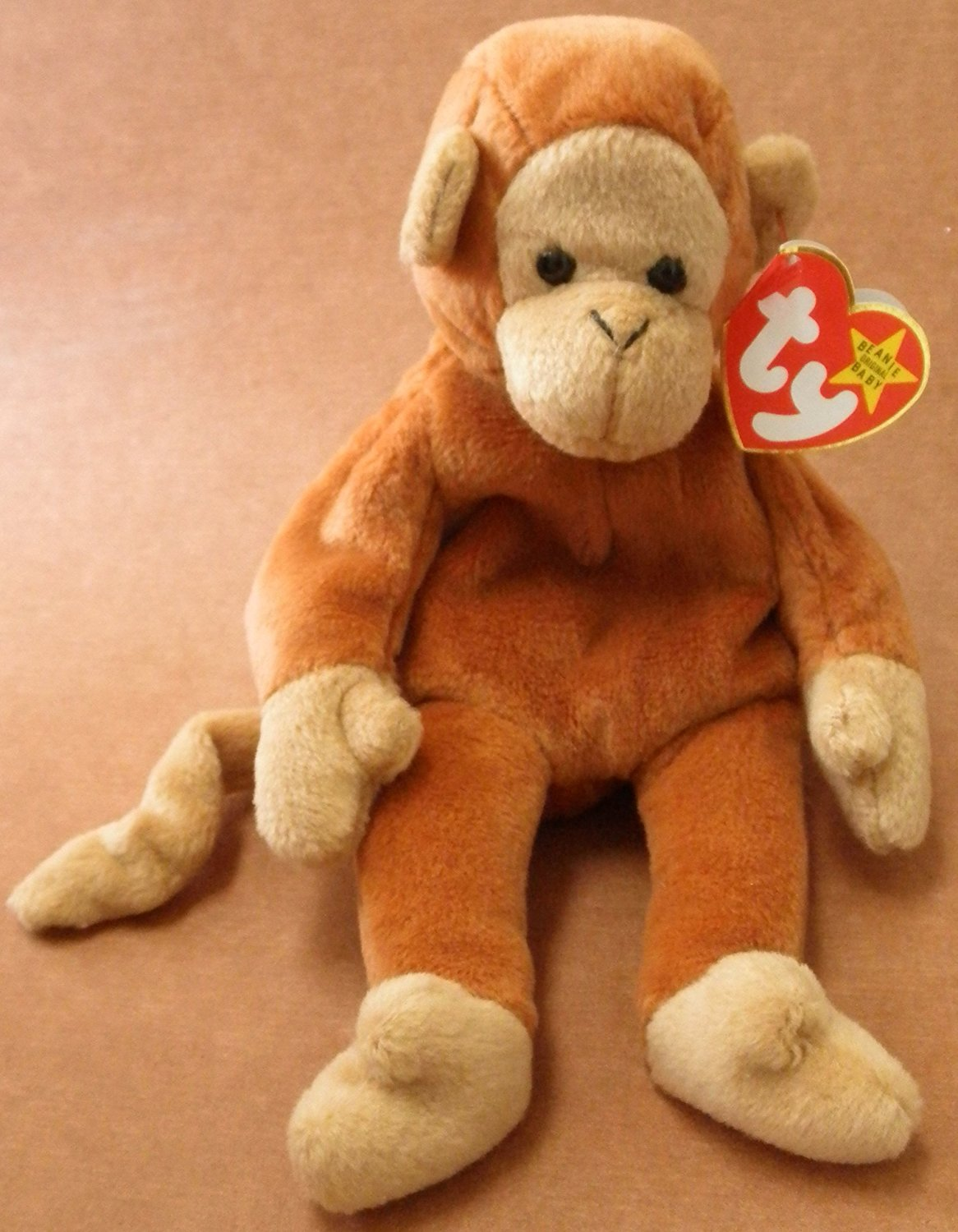 TY Beanie Babies Bongo the Monkey Stuffed Animal Plush Toy - 9 inches tall 57d59a31df0