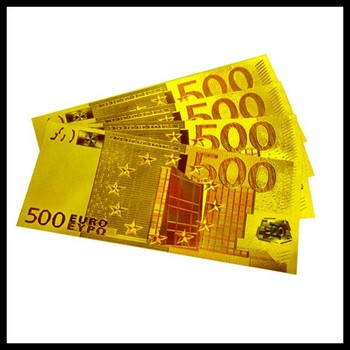 24k Gold Embossing Euro Us Banknotes