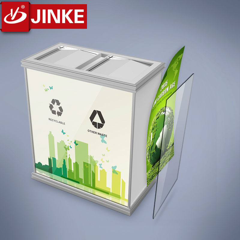 JINKE 2015 New Advertising Refuse Collection Container Waste Can For Sale