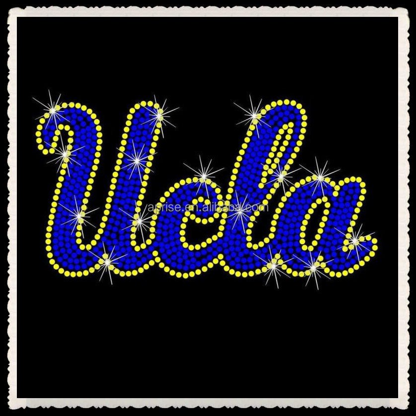 Aprise - UCLA University of California, Los Angeles Football Hotfix Iron On Rhinestone Shirt Transfer