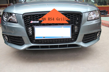 A4 B8 Rs4 Grille For Audi A4 Rs4 Mesh Grill Front Bumper Grille