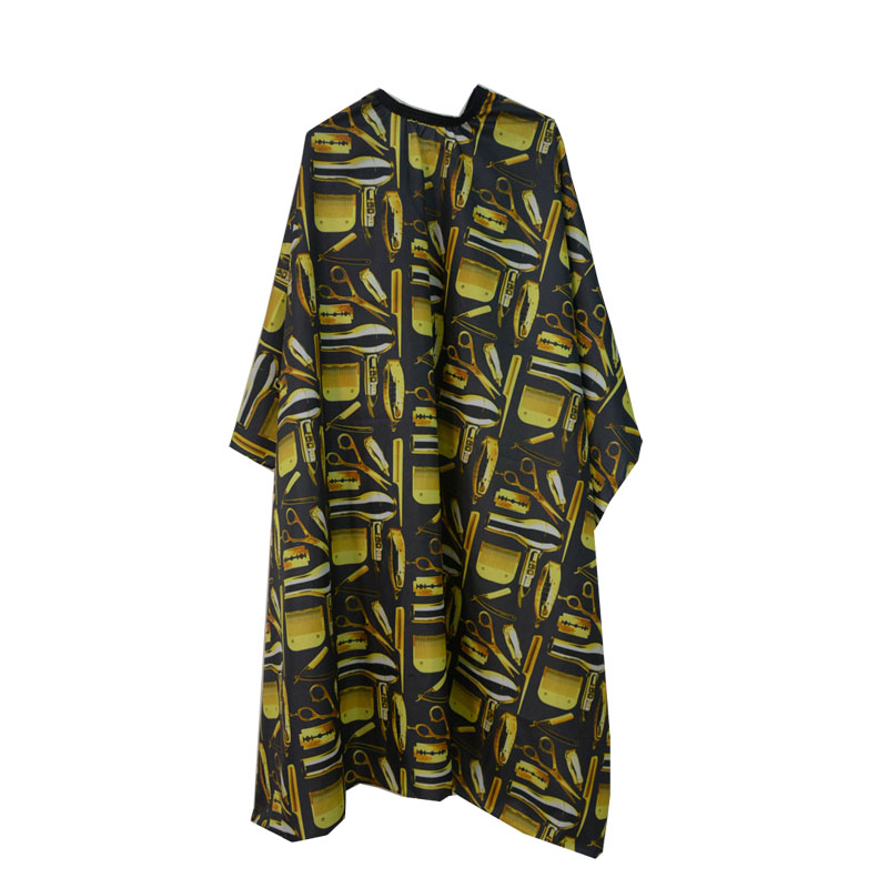2017 Hot Selling Baber Capes Custom Printed Stock Hair Cutting Cape