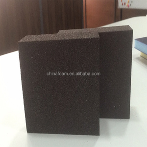 High density foam sanding sponge for wood paint varnish and metal surfaces polishing