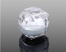 Acryl Crystal clear ring box/<span class=keywords><strong>Sieraden</strong></span> Box Case/geschenkdozen