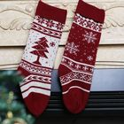 Stock Knit Santa Custom Xmas Candy Cane Angel Tree Deer Christmas Stocking