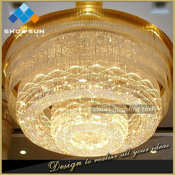 High end plum blossom shaped golden circular crystal chandelier high end plum blossom shaped golden circular crystal chandelier aloadofball Image collections