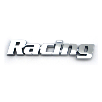 Custom 3d chrome Racing letter emblem logo sign for car