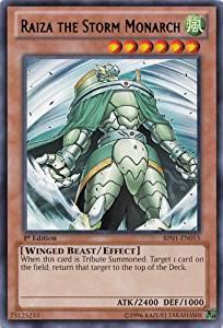 Yu-Gi-Oh! - Raiza the Storm Monarch (BP01-EN015) - Battle Pack: Epic Dawn - 1st Edition - Rare