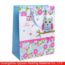 2016 China manufacturer customized birthday gift paper bags with personal logo