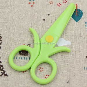 Office Stationery Plastic Safety Hand Scissors Ideal for beginners Scissors more than 3years old Children