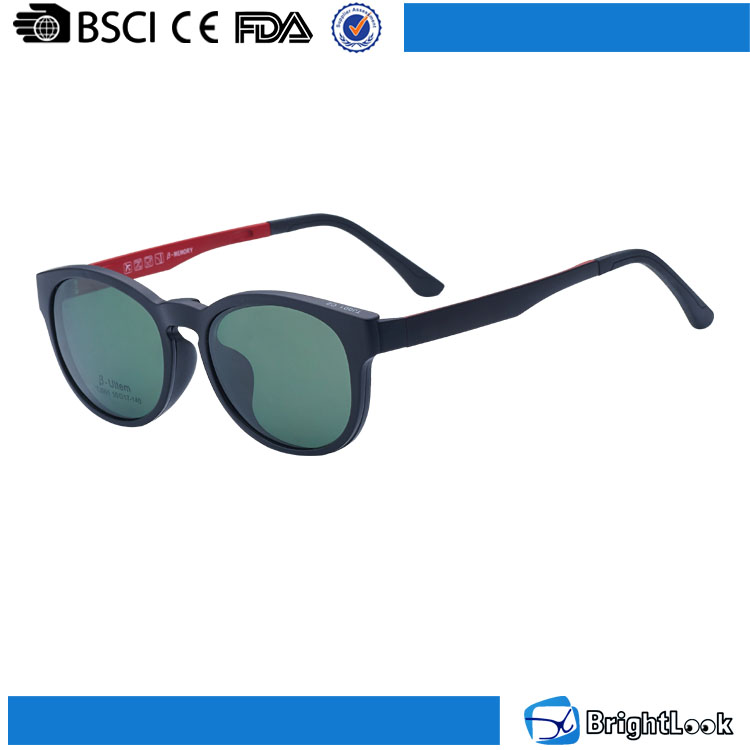 Novedad italia diseño ce lentes del marco óptico con clip en gafas ...
