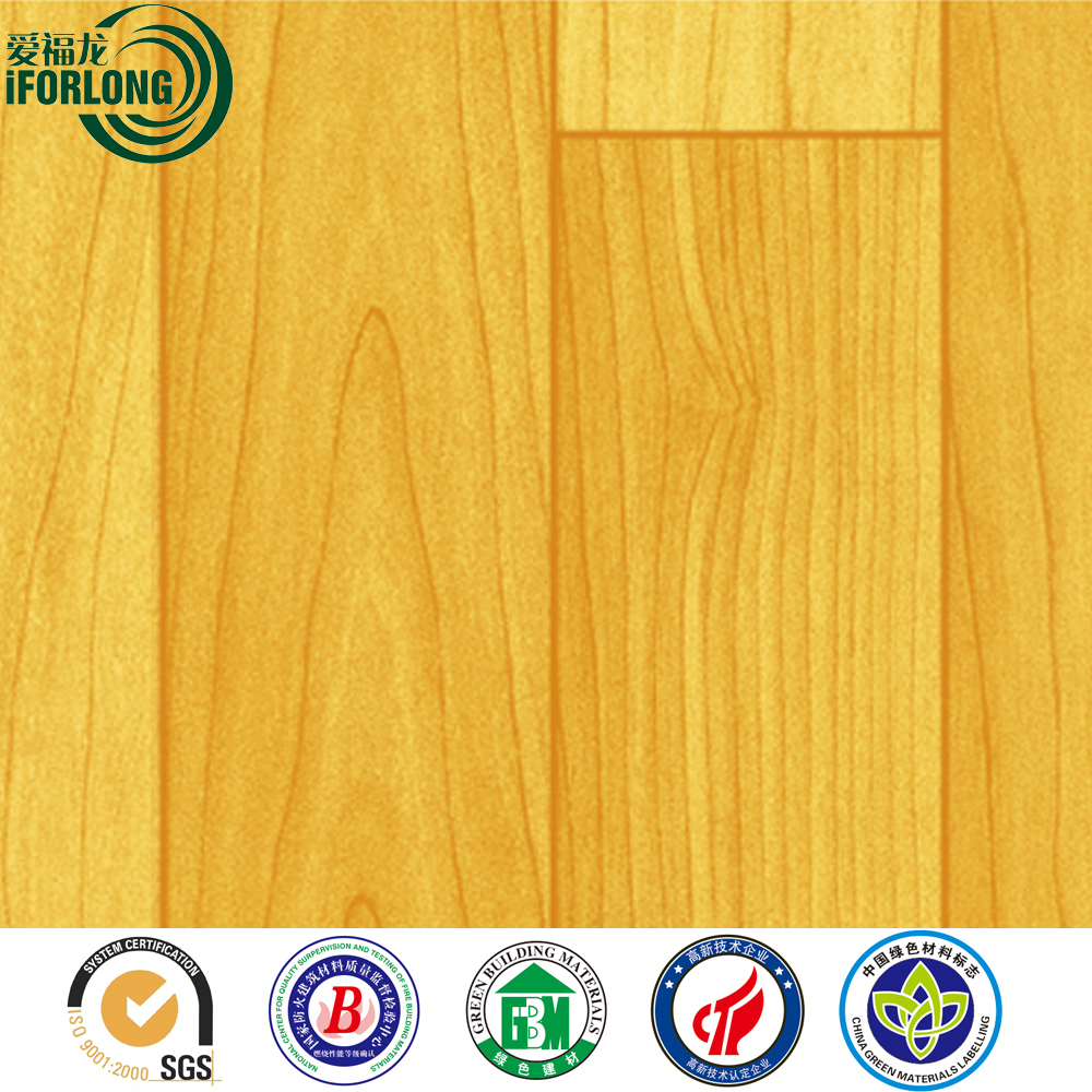 IFORLONG 1.0mm - 3.5mm Overall Thick PVC Wooden Vinyl Flooring Roll