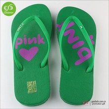 China factory customized printing eva beach flip flop shoes for women