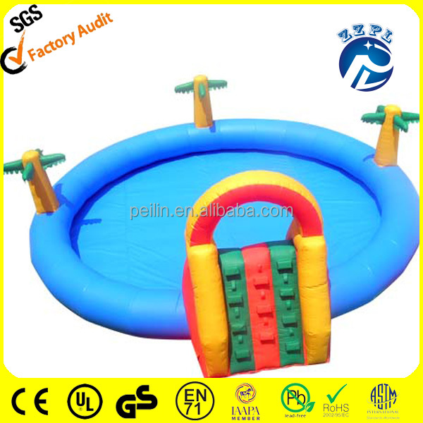 ZZPL deep inflatable pool toys/custom inflatable pool park obstacle WPR-6