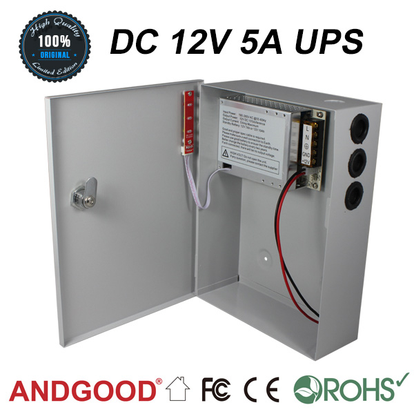 Long Life Electrolytic Capacitors DC 12V 5A ANDGOOD Power upply UPS