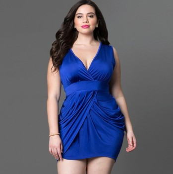 Zm23420a Plus Size Evening Dress For Fat Women Fashion Summer Sexy