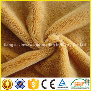fabric material for soft toys polyester China buy plush toy fabric baby cloth velboa fabric