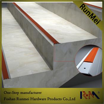Perfect Wood Concrete Round Curved Porcelain Tile Bullnose Metal Aluminium  Anti Slip Stair Nosing