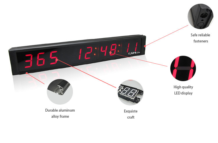 Latest promotion1 inch electronic digital days led countdown clock on sale