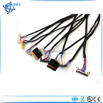 Df14 20 Pin To 20 Pin Single 6 Bit Lvds Cable For Lcd Controller Panel -  Buy Custom Lcd Tv Lvds Extension Cable,Electric Wire Cable,Wires And Cables